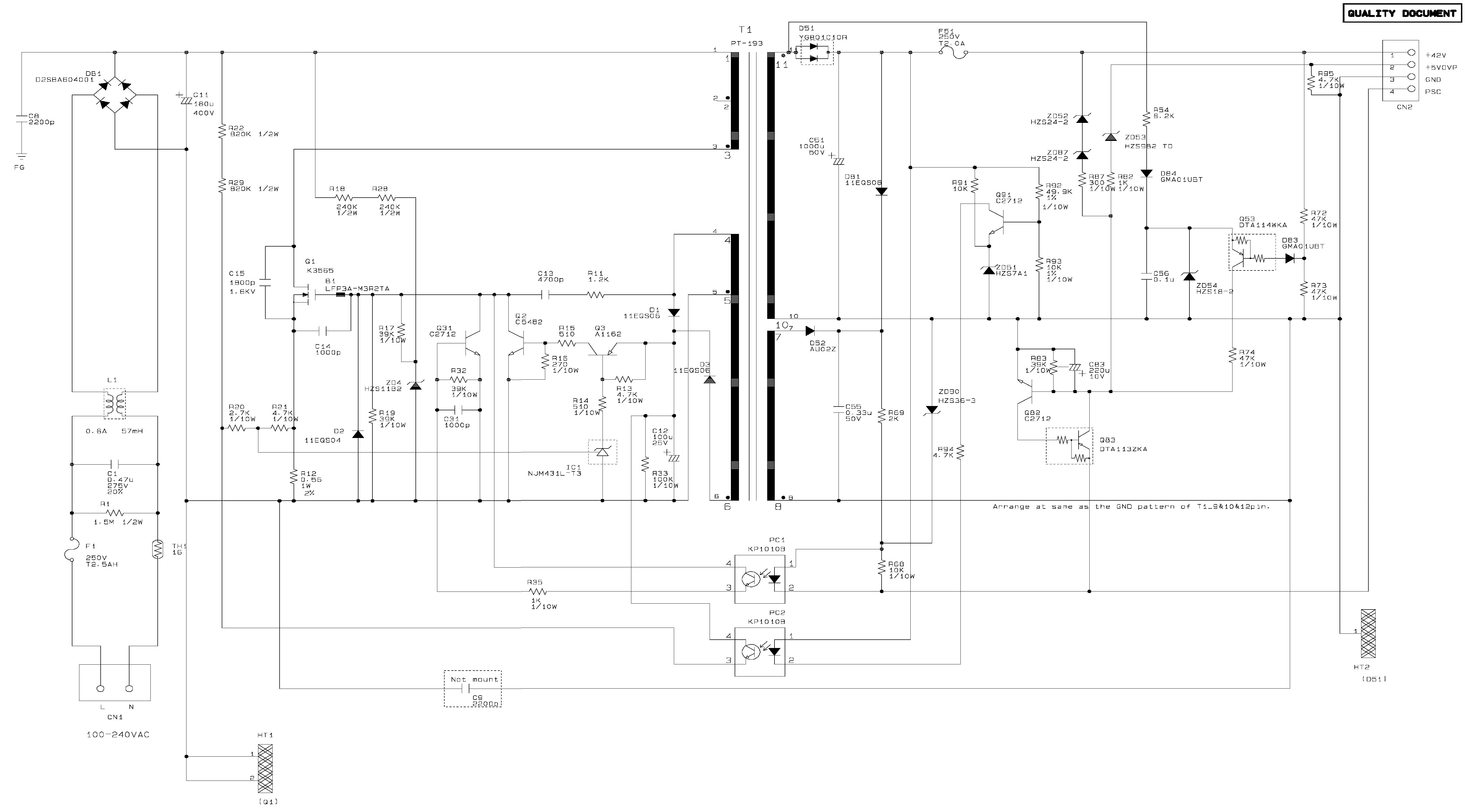 Блок питания схема принтера| Обозначения на схемах: http://gerden.sytes.net/2013/05/blok-pitaniya-shema-printera/